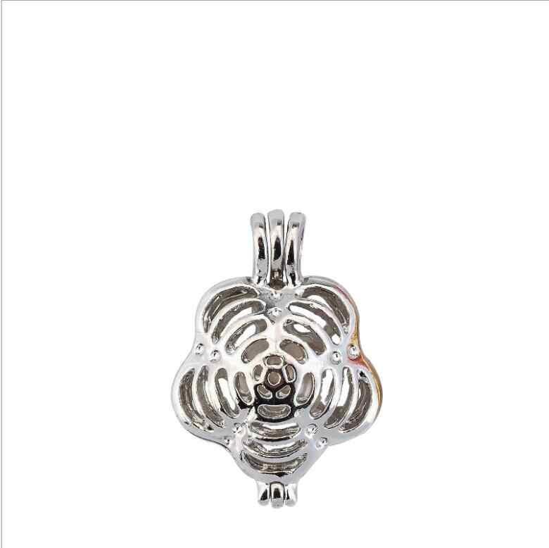 Meer Dan 20 stijlen Parel Kooi Sieraden Bevindingen Kooi Medaillon Hanger Essentiële Olie Diffuser Medaillon Voor Oester Parel Vrouwen Meisje