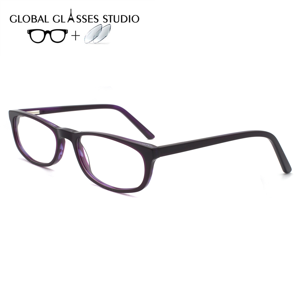 Women  Acetate Glasses Frame Eyewear Eyeglasses Reading Myopia Prescription Lens 1.56 Index  OU96.660.06(China)