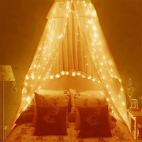 6 3m Curtain Lights 600LED Curtain Fairy String Light Indoor Starry Light For Xmas Christmas Wedding