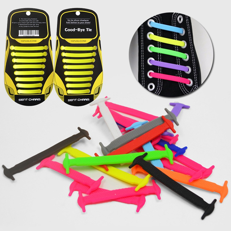16pcs Shoelaces for Women Men Shoes Fashion Men Women Lazy No Tie Shoelaces Unisex Elastic Silicone Shoelaces Shoe Accessories darseel shoe accessories shoelaces hbf