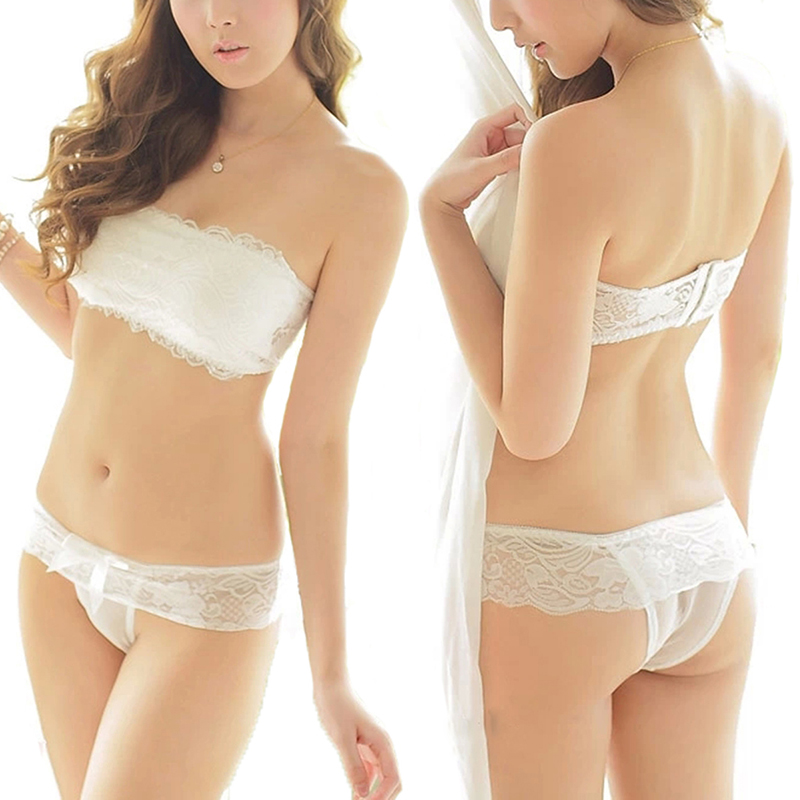 e620e8332d3 Women Sexy Lace Push Up Bra Set Japanese Bra Sets Strapless Chest Wrap Bra  And Panty Cute Lingerie Underwear Set-in Bra   Brief Sets from Underwear ...