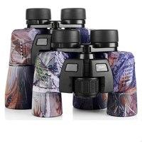 HD 8x40 /10x50 Zoom High Quality Binoculars Military Camo Telescope Waterproof FMC Blue Film Coated Optical Len for Hunting Tool