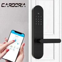 Безопасность дома замок без ключа, умный дверной замок с идентификацией через отпечатки пальцев, Wifi Пароль RFID карточный замок беспроводной
