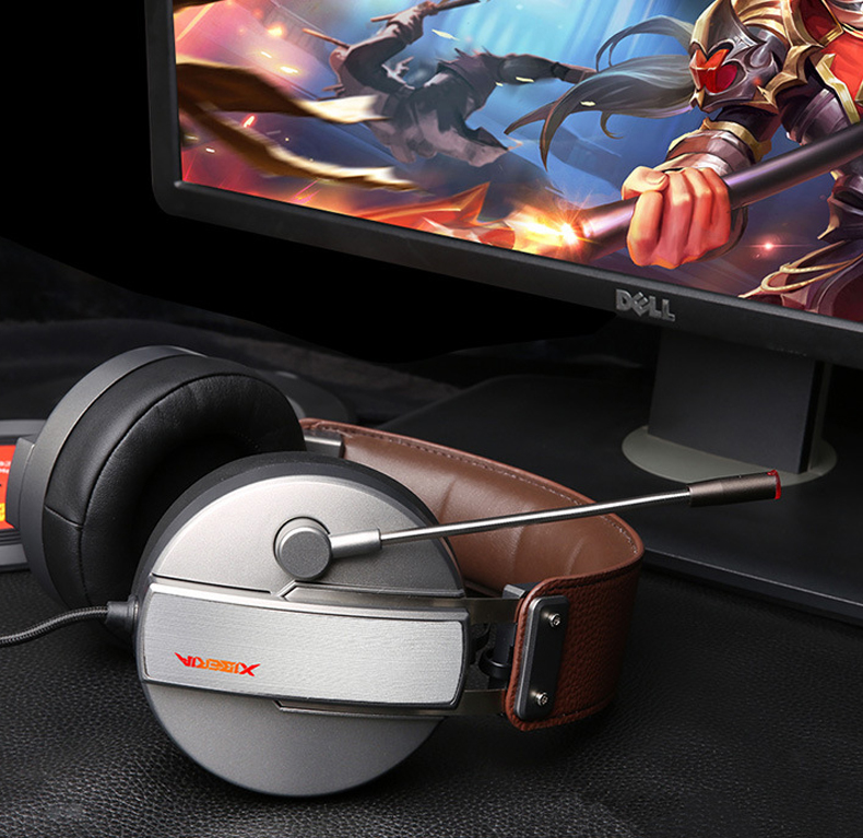 High quality headphones S22 Professional gaming headset wired headset with 7.1 channel with microphone for pc table games PS4