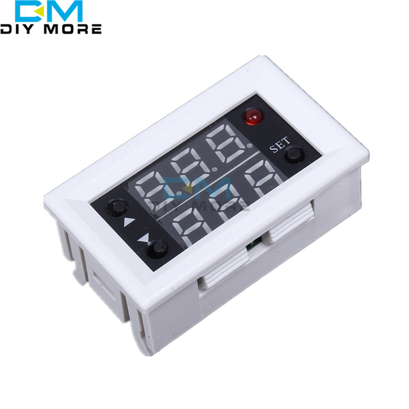 Mini 12V 20A Digital LED Dual Display Timer Relay Module Timing Delay Cycle 220vac digital time delay repeat cycle relay timer 1s 990h led display 8 pin panel installed dh48s s spdt