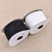 100 м черно-белый цвет нетканый материал плавкая односторонняя клейкая лента прокладочная Ткань DIY швейная подкладка поставки