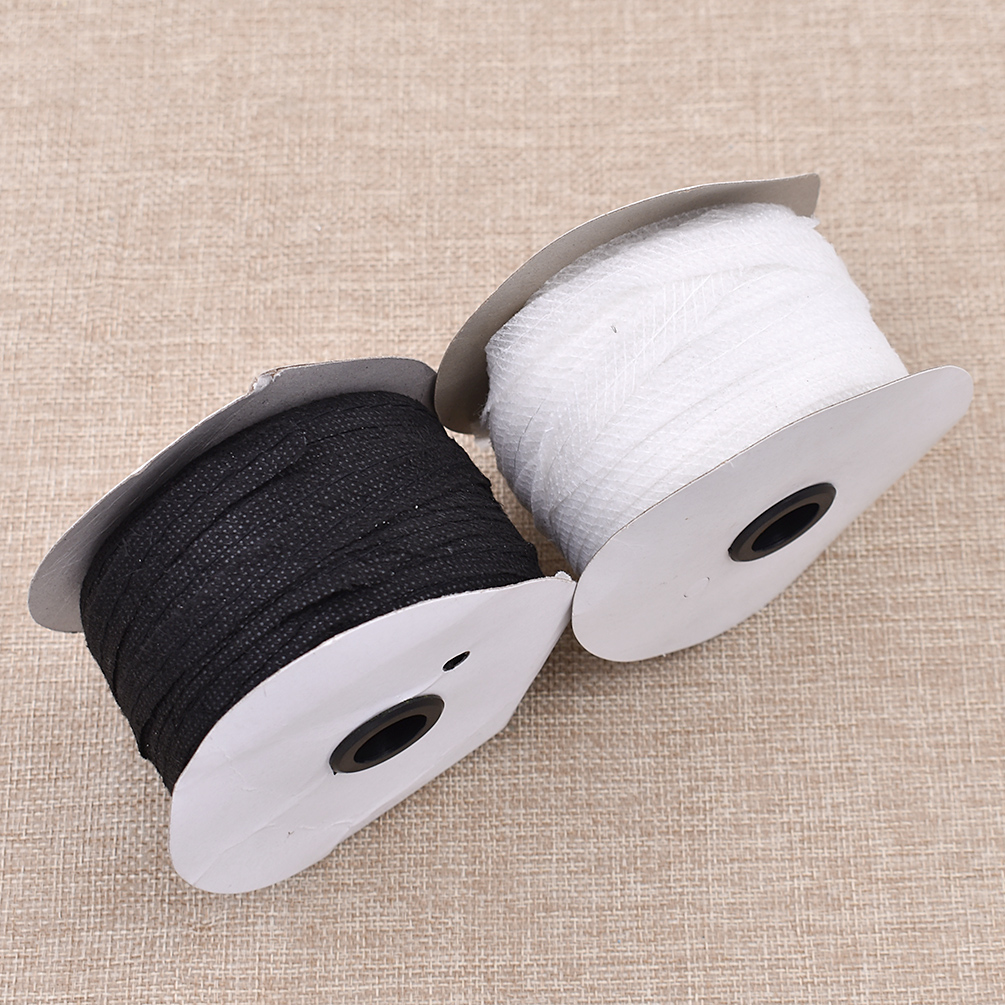 100m Black White Color Non-woven Fabric Fusible Single Side Adhesive Tape Interlining Cloth DIY Sewing Lining Supplies