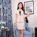 Summer Formal Ladies Apiroct Blazer Women Business Suits with Skirt and Jacket Sets Office Uniform Designs OL Styles