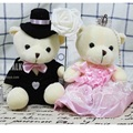 New Cute Marriage gauze bear Plush Toys Lovers Romantic Confession Gifts Valentine's Day Best Presents Two Teddy Bear Plush Toy