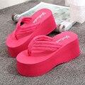 2017 New Slippers Flip Flops Fashion Platform Sandals Wedeges Slippers High Heels Beach Slippers Women Sandals z514