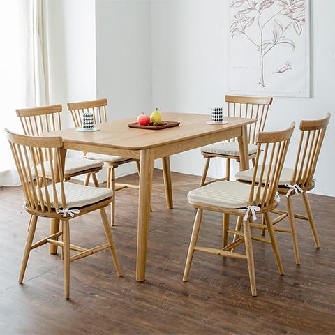 Sillas comedor de madera modernas for Sillas lacadas en blanco comedor