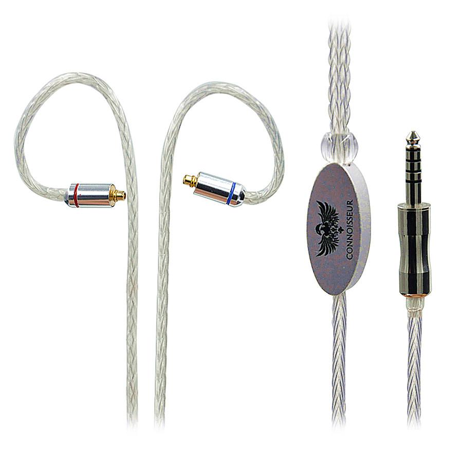 Prix pour 4.4 Mâle à MMCX Connecteur 16 Noyaux Argent Plaqué Câble Pour Sony NW-WM1Z