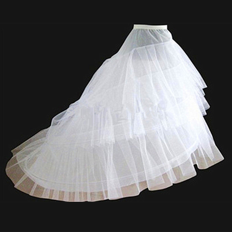Aliexpress 2016 New White Hot Hoop 3 Layers Of Crinoline Petticoats For Wedding Dresses Long Train Bridal Petticoat From Reliable