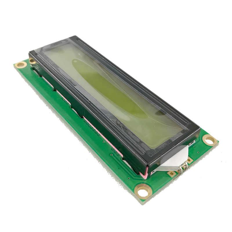 3.3V 5V 1602 16X2 LCD Display Modul HD44780 Mendorong Kuning atau Biru Layar IIC Adaptor untuk SPI atau Paraller 51 STM MCU Uno Proyek