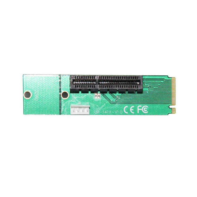 NGFF M2  to PCI-E 4x 1x Slot Riser Card Adapter Male To Female PCIE Multiplier For BTC Miner Mining Machine with Converter Card
