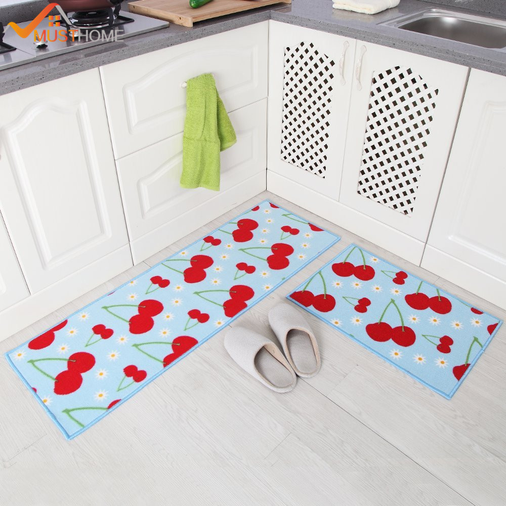 Kitchen Rugs Us 19 19 20 Off 2 Piece Washable Kitchen Mats Fruit Pattern Kitchen Rugs And Carpets 40 60cm 40 120cm In Mat From Home Garden On Aliexpress