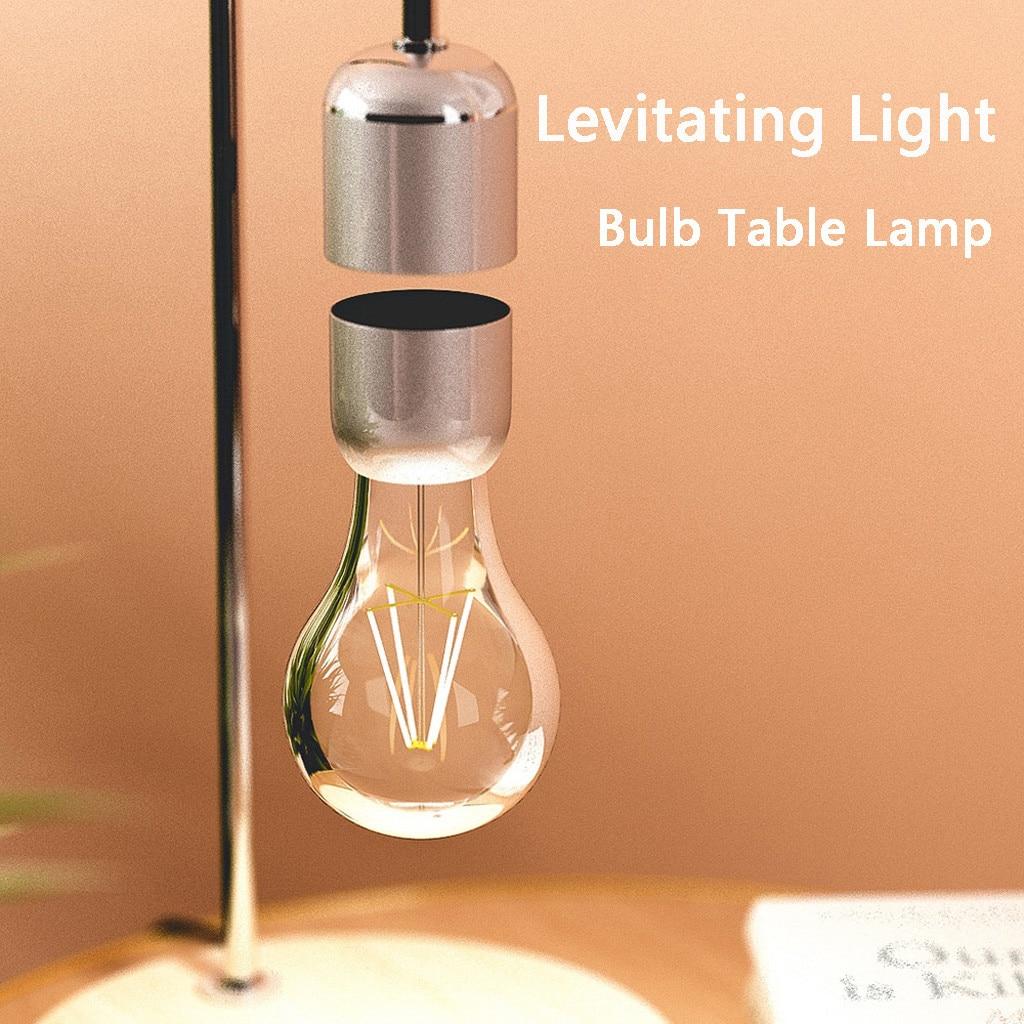 Levitating Light Bulb Table Lamp Luminosity Anti-gravity Lamp Magnetic Lamp Output Power Zero-gravity Levitating Bulb Table Lamp