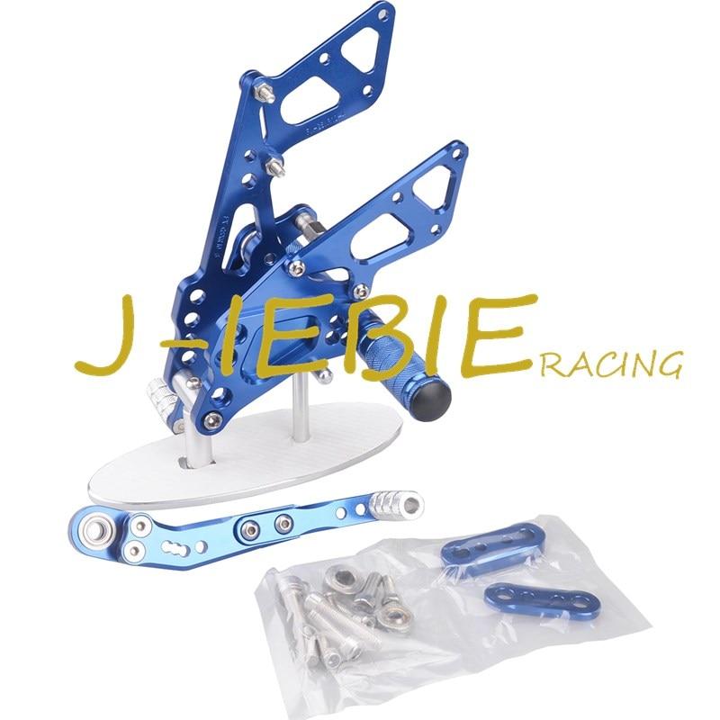 CNC Racing Rearset Adjustable Rear Sets Foot pegs Fit For Suzuki GSXR1000 GSXR 1000 2009-2016 K9 BLUE titanium cnc aluminum racing adjustable rearset foot pegs rear sets for yamaha mt 07 fz 07 mt07 fz07 2013 2014 2015 2016