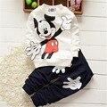 DT0265 Весна Осень комплектов одежды для мальчиков девочек детей дети спортивный костюм бренд хлопка с длинным рукавом + брюки 2 шт.. набор