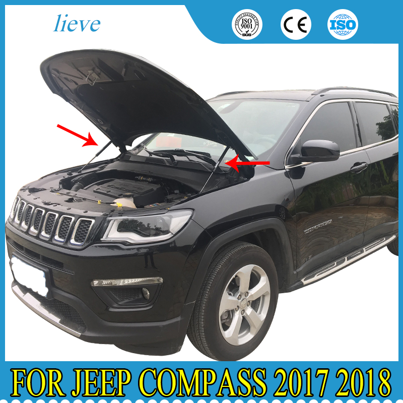 2Pcs For JEEP COMPASS 2007-2014 Rear Hatch Struts Supports Tailgate Liftgate Gas