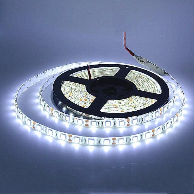 5M LED strip 5050 IP65 Waterproof 60LED/M DC12V Flexible LED Light Strip RGB CoolWhite Warm White Blue led ruban luces led tiras