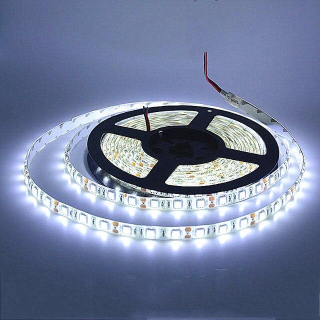 SPLEVISI 5M LED strip 5050 IP65 Waterproof 60LED/M DC12V Flexible LED Light Strip RGB Warm Cool White led ruban luces led tiras
