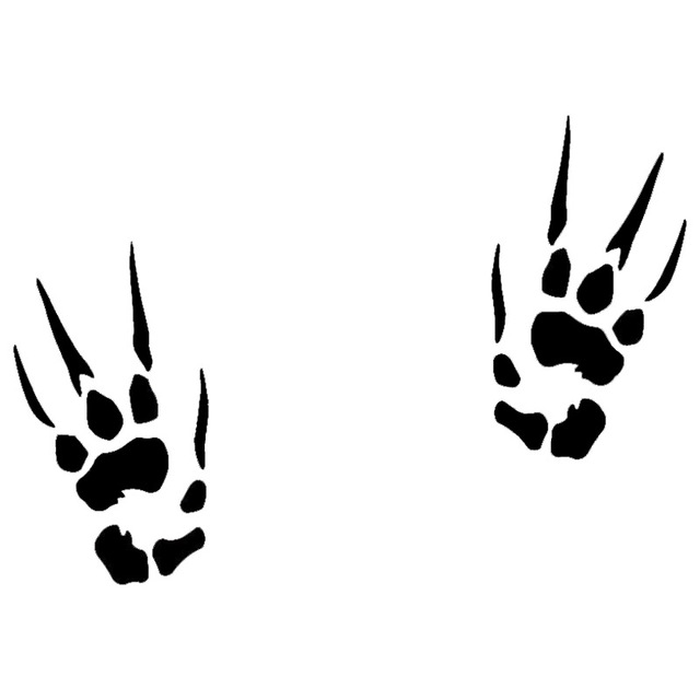 12.7*8.9CM Paws Dragon Cat Dog Cute Funny Decal Stickers Macbook Car Window Decoration Accessories C6-0967
