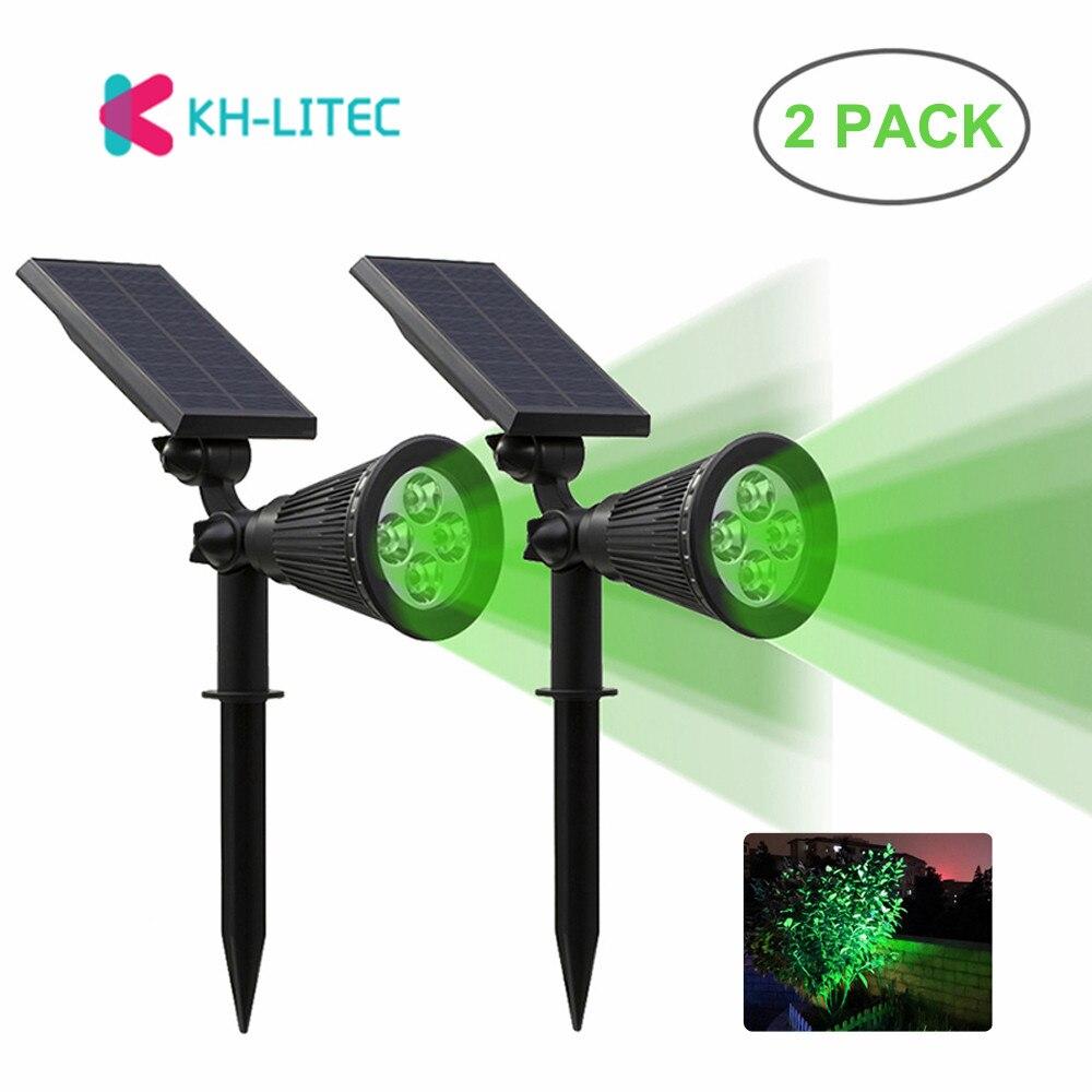 khlitec 2 pack solar holofotes luzes de parede luz 2 em 1 ip65 4 ajustavel levou