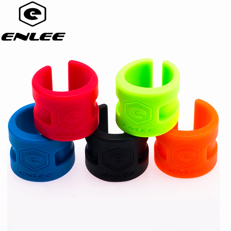 ENLEE Bicycle Protective Gear Road Mountain Bike Frame Collision Rubber Protection Ring Guard Chain Protector Stickers 4pcs/Set