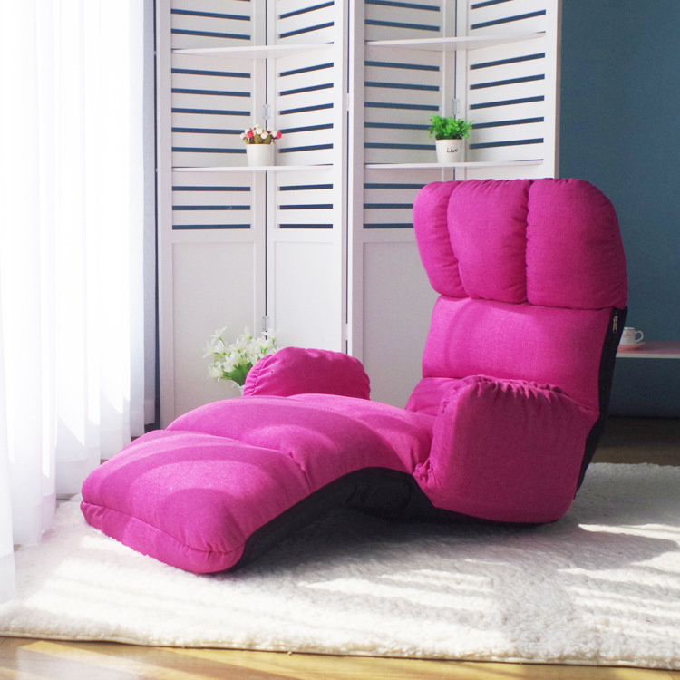 Floor Foldable Chaise Lounge Chair 6 Color Adjustable Recliner ...