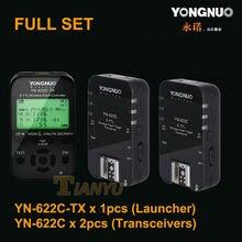 YN622C set Yongnuo 1 YN-622C-TX + 2 RX YN-622C e-TTL LCD Wireless Flash Trigger Set for Canon 5D3 6D 7D 60D 70D 700D 650D 600D