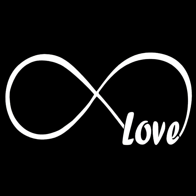 Infinite Love Symbol Infinity Endless Car Window Vinyl Decal Sticker LV-02