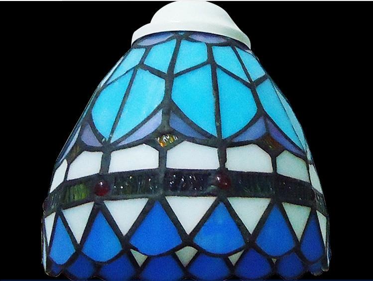 Akdeniz LED Yuvarlak Demir Cam Kolye Işık Süspansiyon Armatür - İç Mekan Aydınlatma - Fotoğraf 6