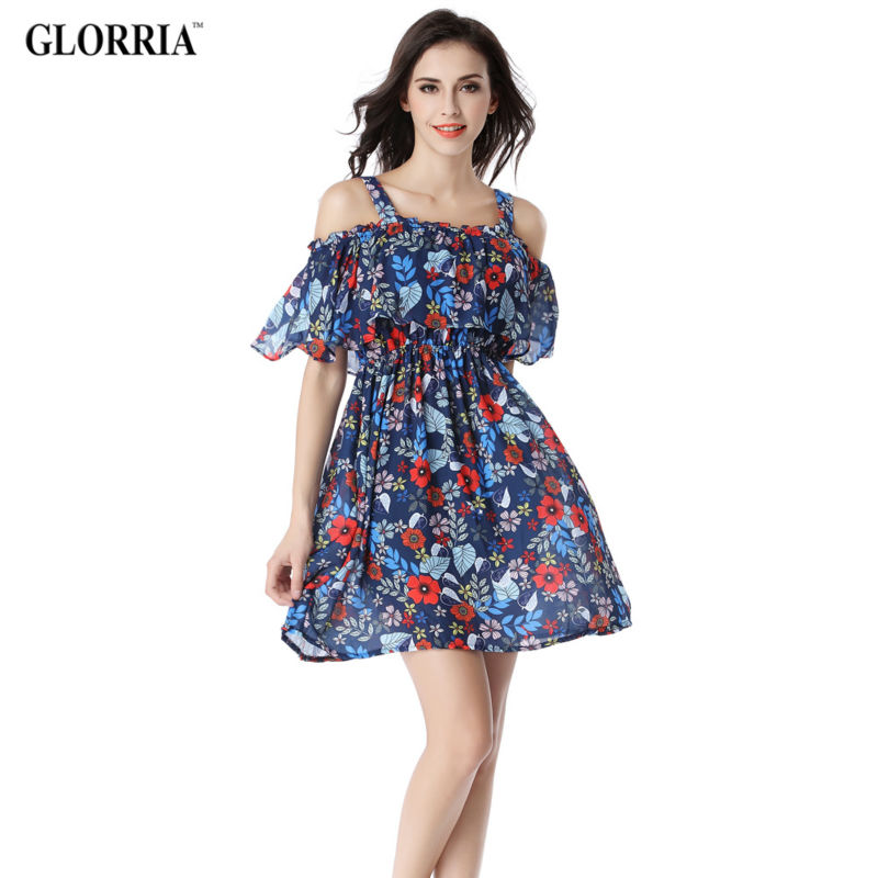 Buy Cheap Glorria 2017 Summer Women Suspender Tunic Ruffled Dress Hollow Out Spaghetti Strap Dresses Sexy Casual Fashion Beach Vestidos