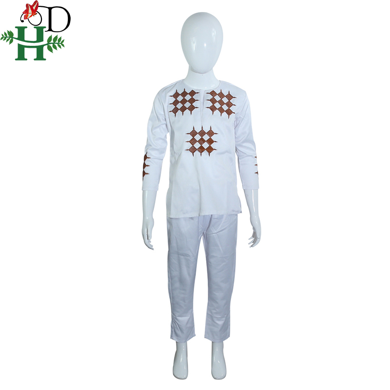 Купить с кэшбэком H&D african men kid boy clothing 2020 mens dashiki shirt africa bazin riche outfit clothes tops pant suits vetement africain