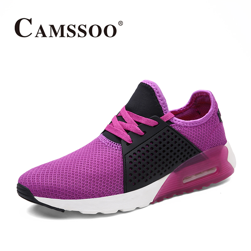 2018 Camssoo Womens Breathable Light Weight Trail Running Shoes Non-slip Outdoor Sports Shoes Purple Pink Free Shipping 6076 2018 merrto womens outdoor walking sports shoes breathable non slip travel shoes for women purple rose red free shipping mt18665