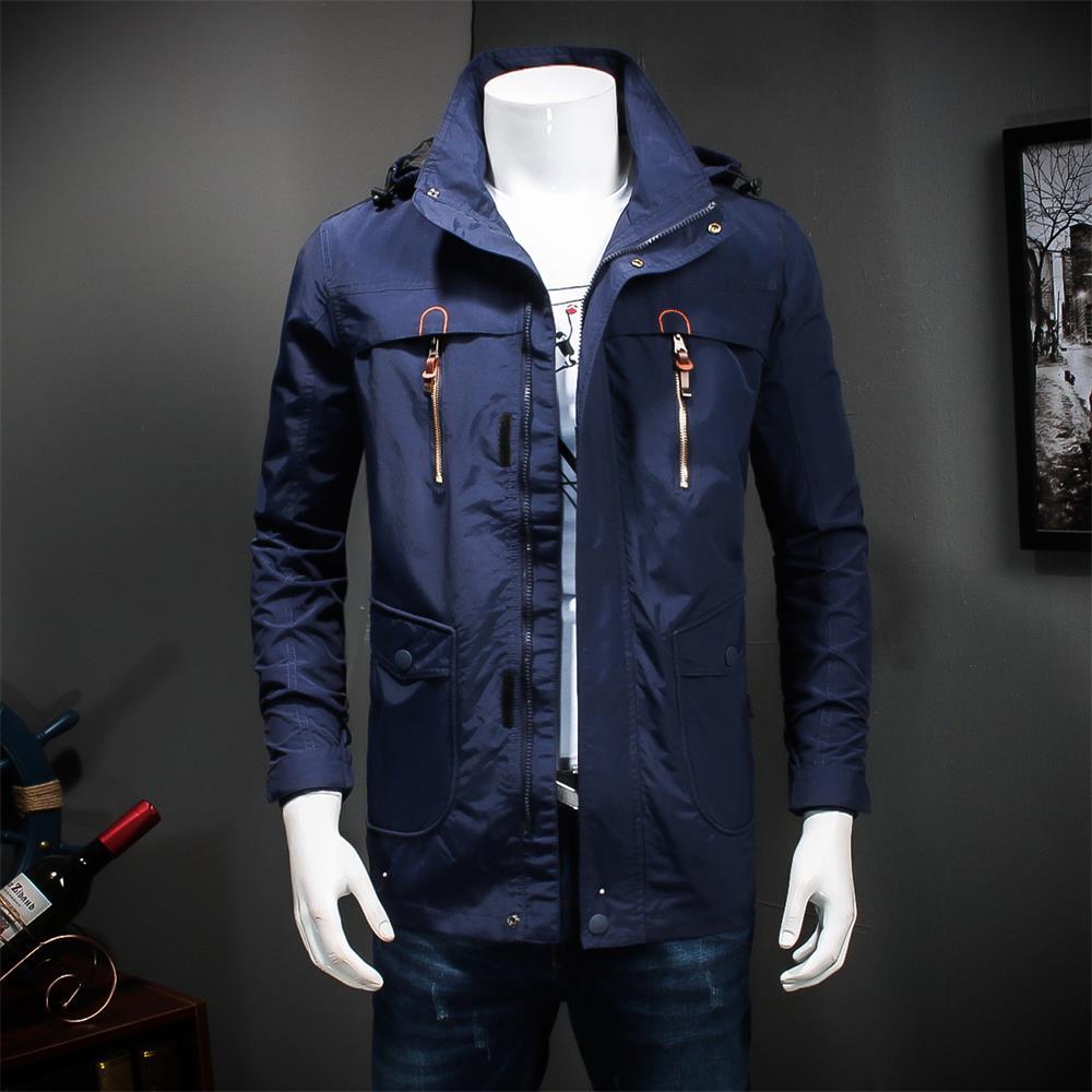 9XL 8XL 7XL 6XL New Mens Autumn Jackets And Coats Classic Casual Long Stand Collar Jacket Free Shipment Black Blue Autumn Top