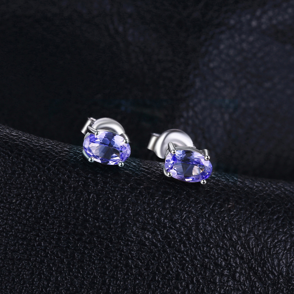 Jewelrypalace 925 Sterling Silver 1ct Natural Tanzanite Stud Earrings Statement Fashion For Women Fine Jewelry In From