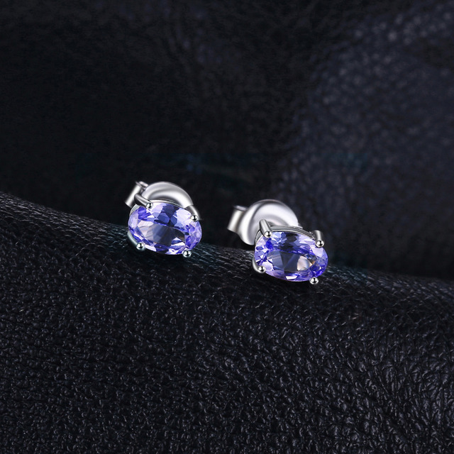 Natural Tanzanite Stud Earrings