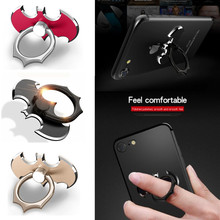 JUSFYU Bat 360 Degree Rotate Holder Finger Ring Mobile Phone Stand For iPhone/Samsung/Xiaomi All Smart