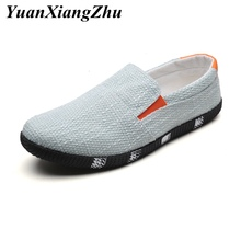 New Men Shoes Casual Loafers Summer Breathable Slip on Mens Canvas Shoes High Quality Driving Shoes Men Flats Zapatillas hombre hot sale fashion flats mens casual shoes men zapatillas hombre air mesh and leather breathable elastic band summer loafers