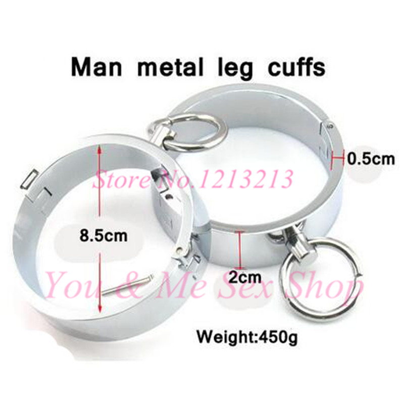 2016 High quality  Male legirons Hand Cuffs algema adult games styling tools slave stainless steel sex toys sex products for men