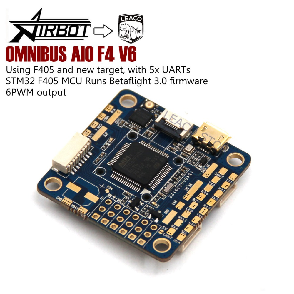 OMNIBUS AIO F4 V6 Flight Control 5xUARTs using F4 MCU controls OSD over SPI bus For