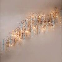 Светодио дный светодиодный медный Настенный Бра Лампа латунный настенный светильник медная люстра настенное освещение фойе освещение для