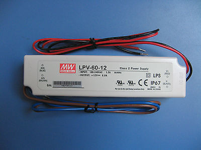 MeanWell LED Power supply LPV-60-12 UL Component Waterproof 60W Driver Transform meanwell 12v 100w ul certificated clg series ip67 waterproof power supply 90 295vac to 12v dc
