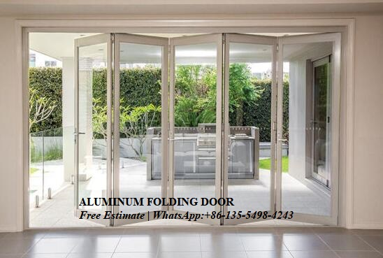 Sliding Soundproof Luxury Exterior Patio Lowes Glass Accordion,soundproof Double,aluminium Accordion Insulated