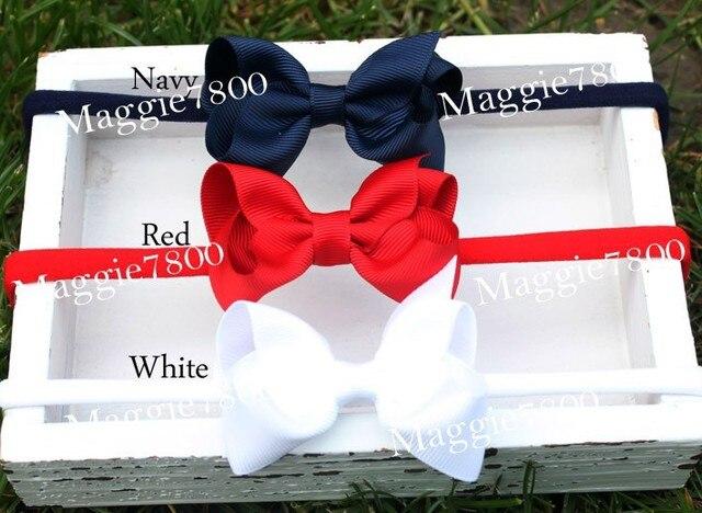 """2.5"""" Baby girls plain hair bows hair band headband with bows 1000pcs/lot Mixture colors"""