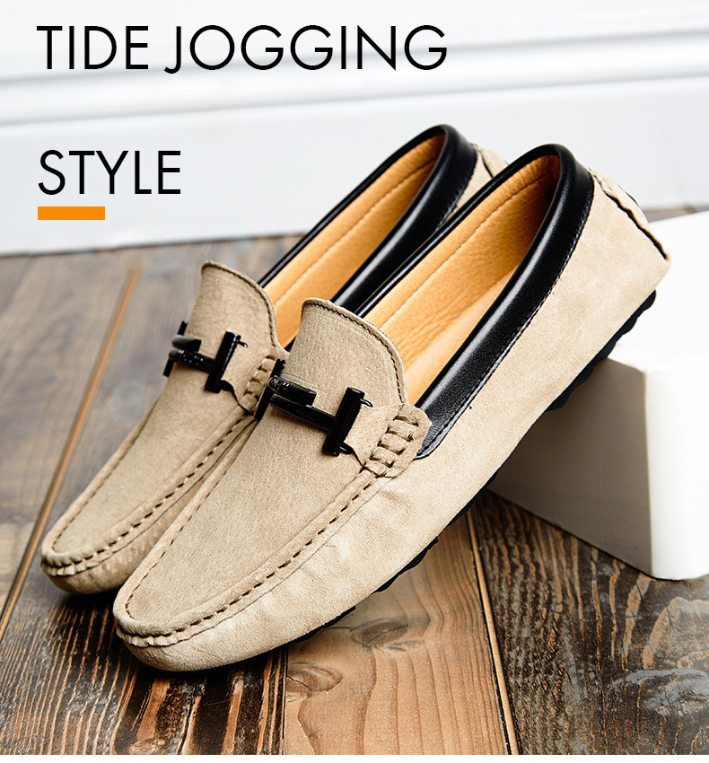 Men's Top Brand Fashion Casual Soft Loafers Suede Boat Shoes Male Footwear Adult Drivings Summer Moccasins Hommes Plus Size 11 52