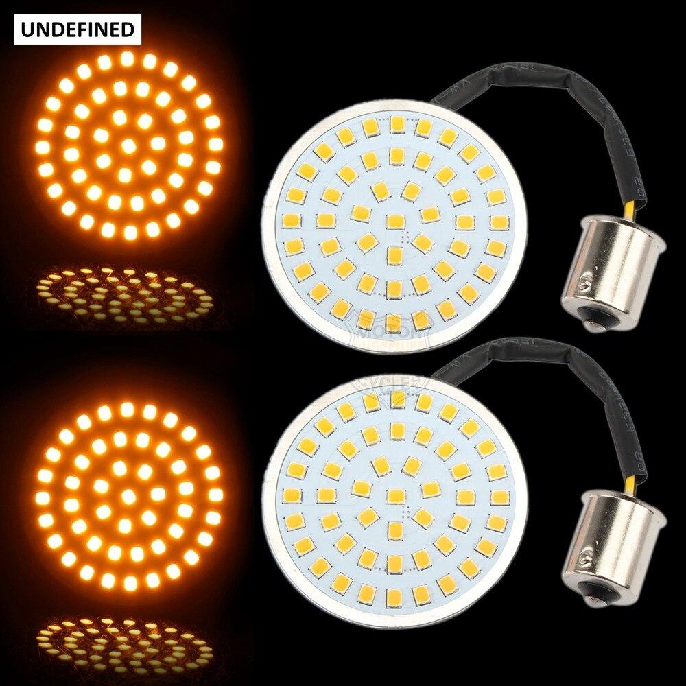 Bala LED Turn Signal Indicator Light Lamp 1156 Inserções Luz para Harley Sportster Touring Electra Glide Dyna Softails FLST