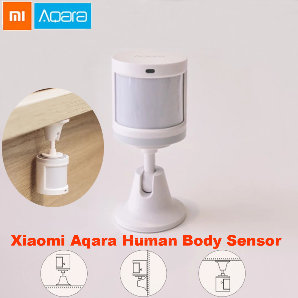 100% Original Xiaomi Aqara Human Body Sensor Smart Body Movement Motion Sensor Zigbee Work With Xiaomi Gateway Freeshipping